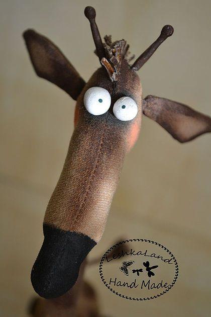 Жираф Эд - авторская работа,интерьерная кукла,авторская игрушка,смешной