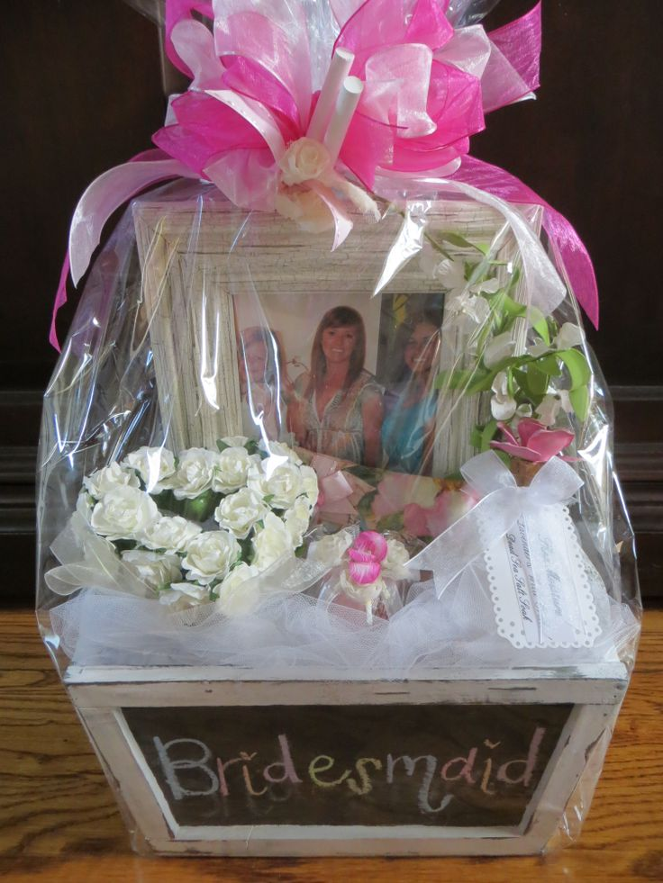 Will You Be My Bridesmaid Gift Basket Each Was Customized With A Favorite Photo