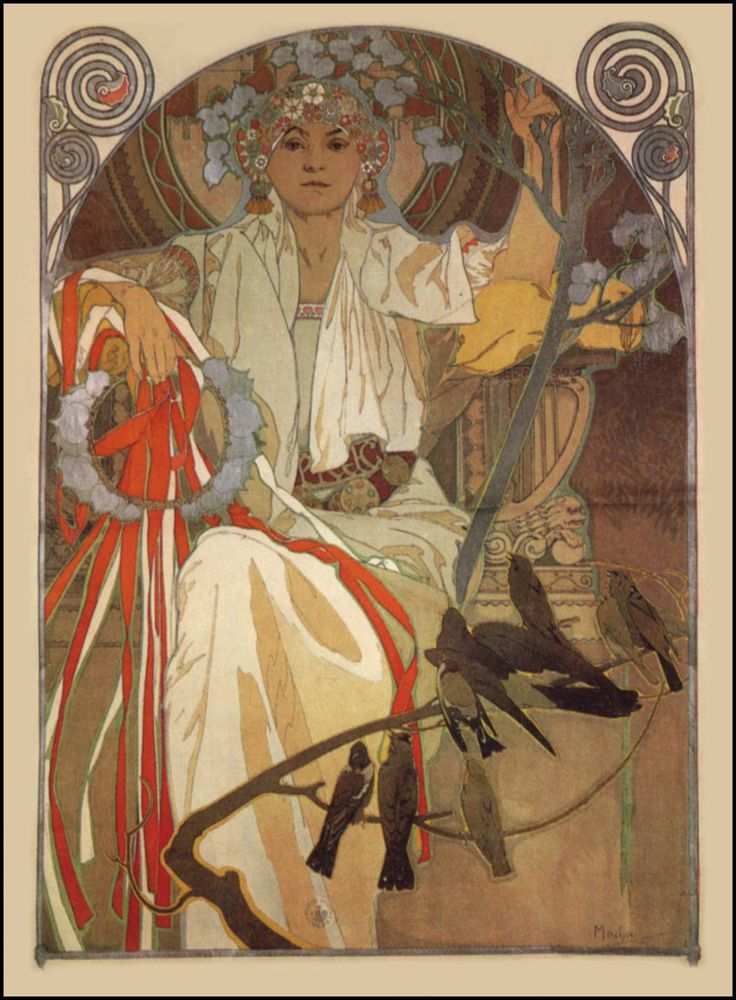 Alfons MUCHA ~ Poster for The Spring Festival of Song & Music in Prague 1914