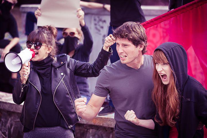 Angry demonstration