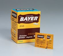 @ShopAndThinkBig.com - Bayer? Aspirin Temporarily Relieves Headache, Muscle Pain, Toothache, Menstrual Pain, Pain And Fever Of Colds, Minor Pain Of Arthritis. Active Ingredient (In Each Tablet): Aspirin 325 Mg.… http://www.shopandthinkbig.com/bayer-aspirin-50-2-packs-100-tablets-per-dispenser-box-first-aid-only-p-7135.html