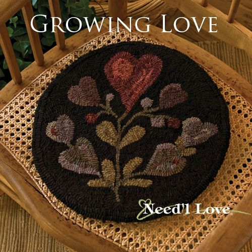 Growing Love Hooked Rug Canvas On Monks Cloth From Needu0027l Love Designed By  Jan