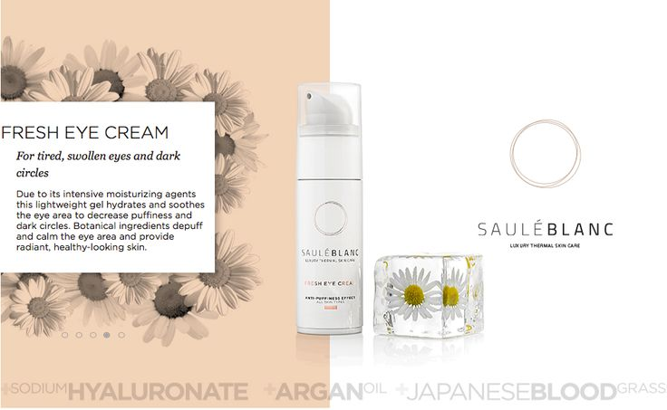 SB Fresh Eye Cream. Removes dark circles and under-eye bags. SHOP ONLINE: https://sauleblanc.com/fresh-eye-cream