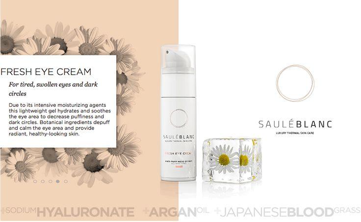 SB Fresh Eye Cream. Removes dark circles and under-eye bags. SHOP ONLINE: https://sauleblanc.com/fresh-eye-cream