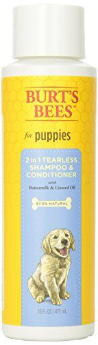 Burts Bee 2in1 Tearless Puppy Shampoo, 16-Ounce - http://www.thepuppy.org/burts-bee-2in1-tearless-puppy-shampoo-16-ounce/