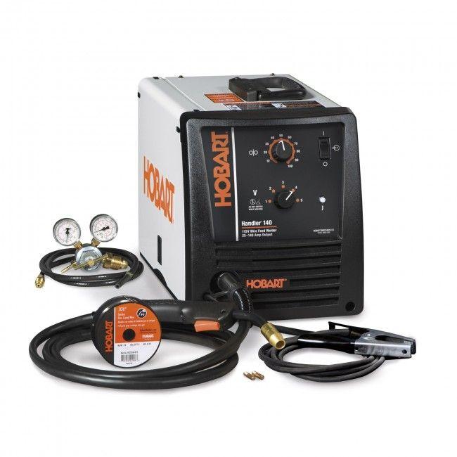 Hobart Handler 140 MIG Wire Welder with Hose and Regulator (500559)