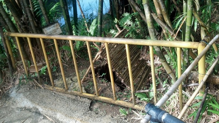Shoichi Yokoi's cave, Guam. Imagine hiding from civilization for 28 years.