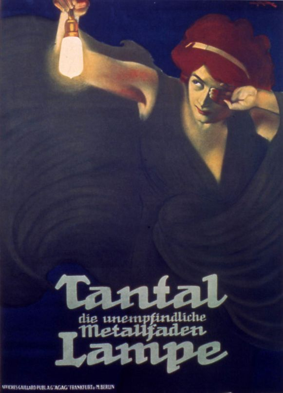 By Leopoldo Metlicovitz (1868-1944), Tantal Lampe. #Liberty #ItalianPoster