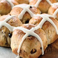 Easy Hot Cross Buns - This soft dough is easily shaped, and makes tender, aromatic buns, ready for an icing cross on top.