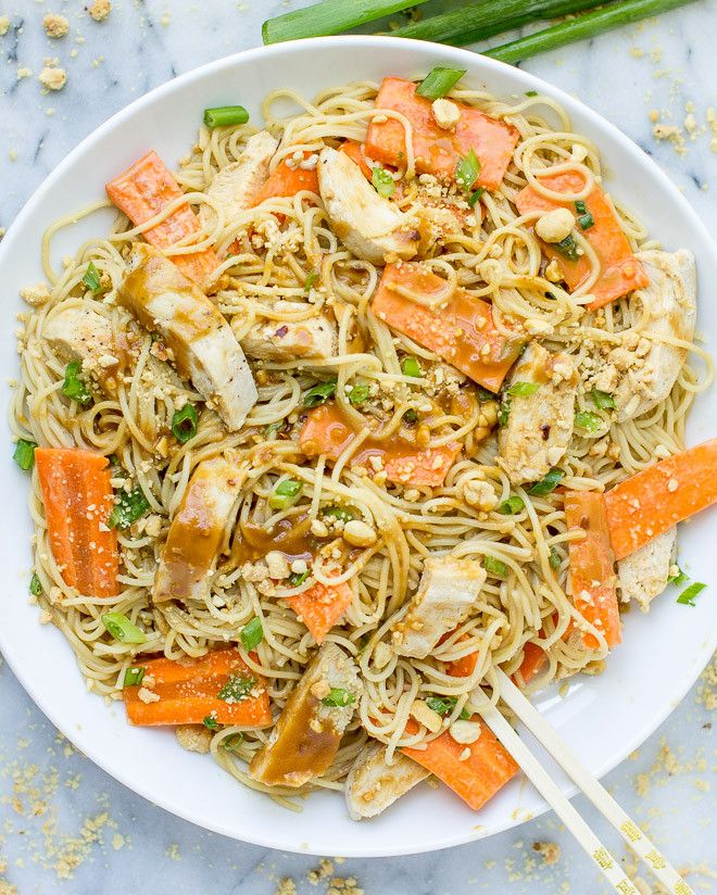 Thai Peanut Chicken and Noodles is your roadmap to unfussy takeout at home. Delicious, complex flavors emerge from simple pantry ingredients like magic!