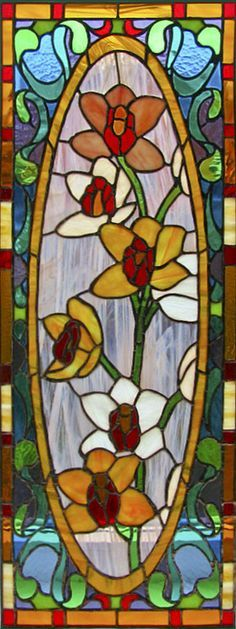 flores vitrales | Vitray (Stained glass) on Pinterest | Stained Glass Windows, Stained ...