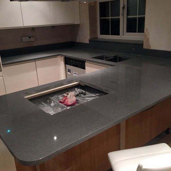 The Grigio Scuro Stella has been installed in to this kitchen. A perfect contrast between the cabinetry and floor.