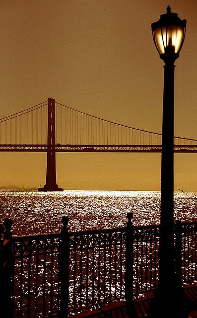 Oakland Bay Bridge from Pier 7 San Francisco - California - love California and Frisco and LA and really all of it -