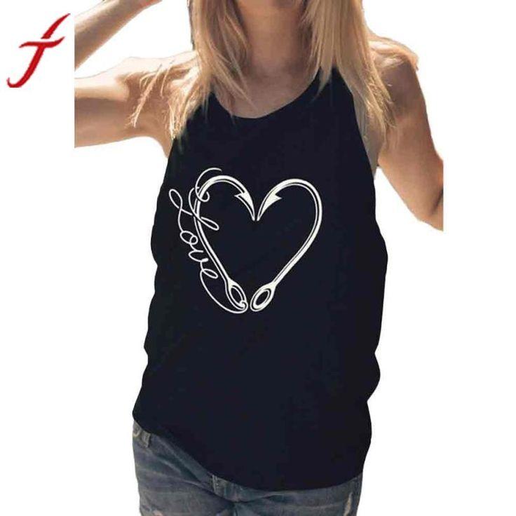 Heart Shaped Hooks -Sleeveless T-Shirt - BLK