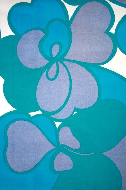Turquoise Fabric by Marjatta Metsovaara - 100% cotton