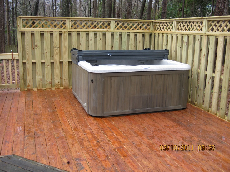 23 best hot tub images on pinterest for Privacy from neighbors ideas
