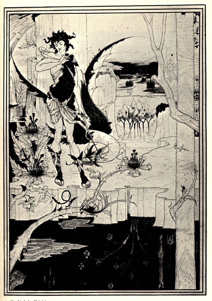 Siegfried illustration, act II by Aubrey Beardsley — Found via Artful for Mac — http://artfulmac.com