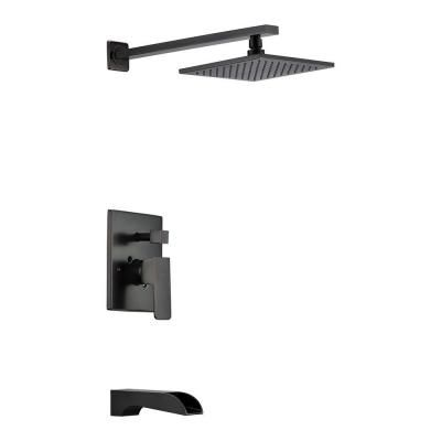 Anzzi Mezzo Series 1 Handle 1 Spray Tub And Shower Faucet In Oil Rubbed Bronze Valve Included Sh Az039 The Home Depot Shower Faucet Shower Tub Shower Panels