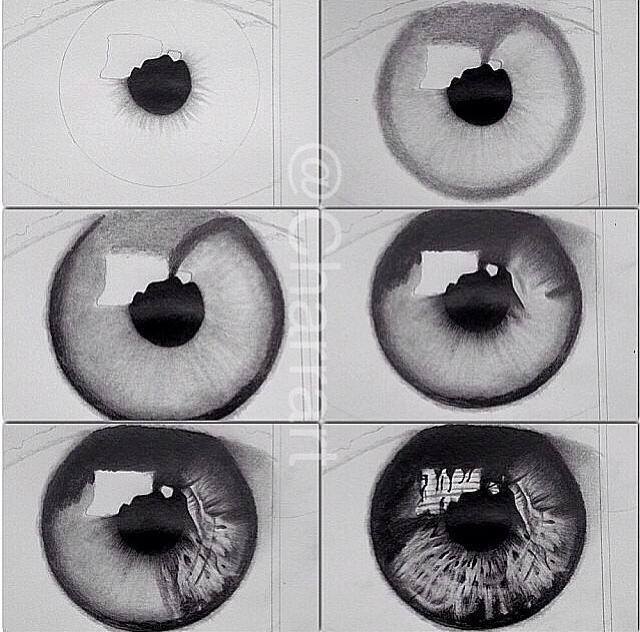 Eye drawing tutorial so realistic 😍 credit unknown