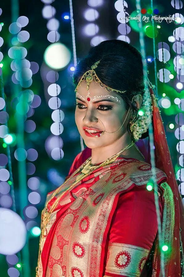 Beautiful bengali bridal look