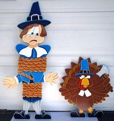 Thanksgiving Pilgrim Tied Up