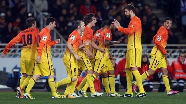 FC Barcelona vrs Real Sociedad | Real Sociedad 3-2 FC Barcelona. [2013-01-19]