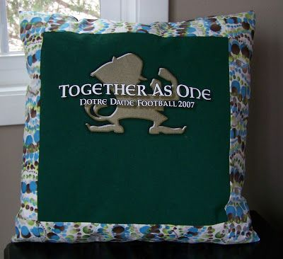 T-Shirt Pillows. This is a great idea for your most memorable T-shirts and a good way to upcycel amazing T-Shirt Art you find on t-shirts at thrift stores.