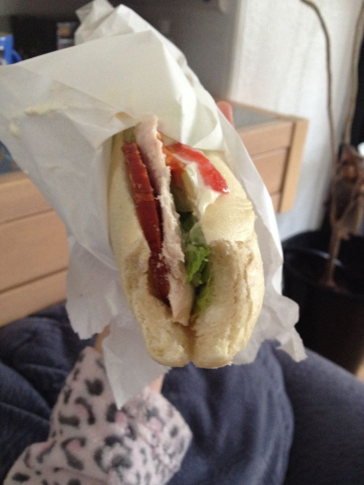 24th May 2014: treated to a strawberries baguette by mum