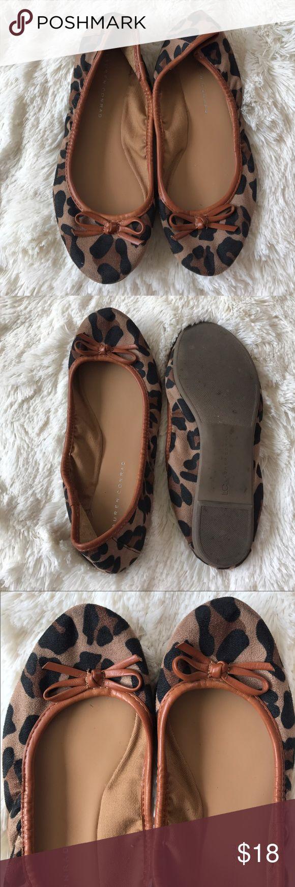 Lauren Conrad Leopard print flats 8.5 Lauren Conrad leopard print flats in good condition 8.5 LC Lauren Conrad Shoes Flats & Loafers