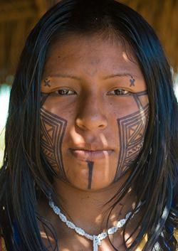 Satere - Mawe (Amazonia ) - Kayapo tribe of Amazon jungle, Brazil. people photography, world people, faces