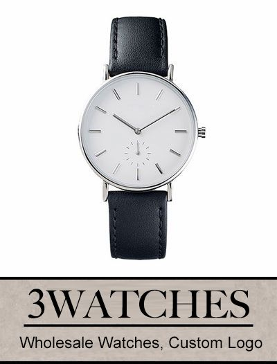Thehorse Wholesale Watches. Custom Logo. Silver / Black Leather. Visiting: http://www.3watches.com/horse-watch/