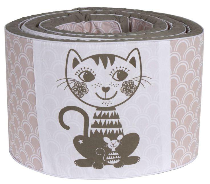 Økologisk Sengerand med kat – Soulmate fra RoomMate. Tinga Tango Designbutik