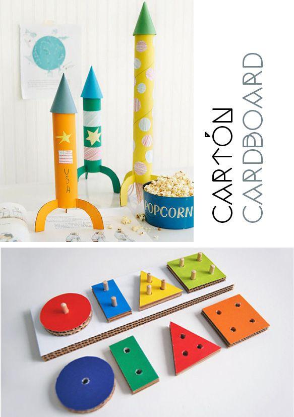 juguetes DIY_ DIY toys cartón, cardboard