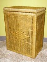 Indo ratanový prádelní koš hranatý - světlý