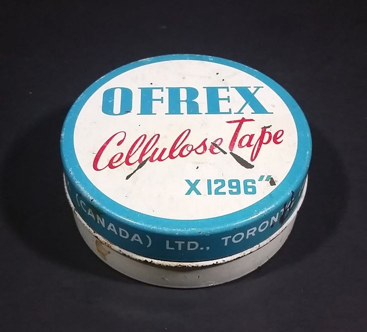 Rare 1940-1950 Cellulose Tape Tin. Made in England was sold by Ofrex (Canada) Ltd. https://treasurevalleyantiques.com/products/rare-1940-1950-cellulose-tape-tin-made-in-england-was-sold-by-ofrex-canada-ltd #Vintage #VintageTins #Rare #1940s #1950s #40s #50s #Forties #Fifties #SelfImage #Beauty #Skin #English #England #Ofrex #Toronto #Canada #HealthCare #Health #Products #Tins