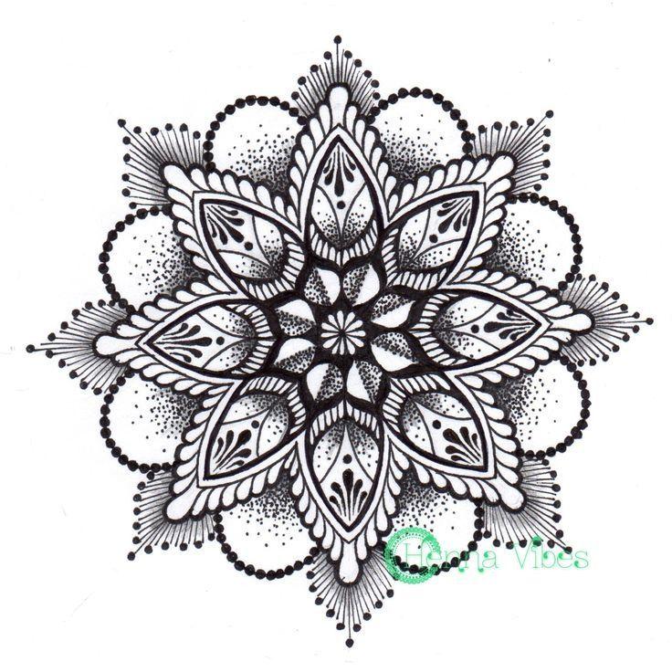 Beautiful black and white Mandala