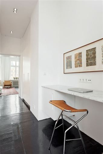Några få outnyttjade kvadratmeter huserar en enkel arbetsstation