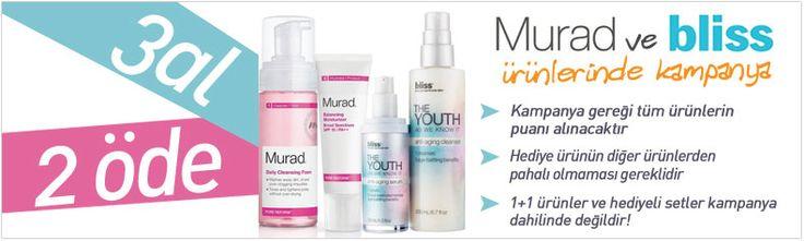 Dr murad Cilt Bakım ürünlerinde 3 al 2 öde kampanyasını kaçırmayın. Ayrıca bu kampanyaya Bliss ürünlerinden alacaklarınız da dahil edilebiliyor.