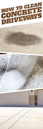 Need help cleaning concrete driveways? Check out this tip from Simple Green.
