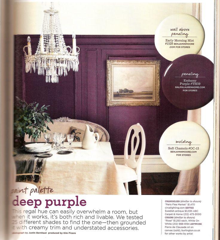 Domino Mag Purple Dining Room