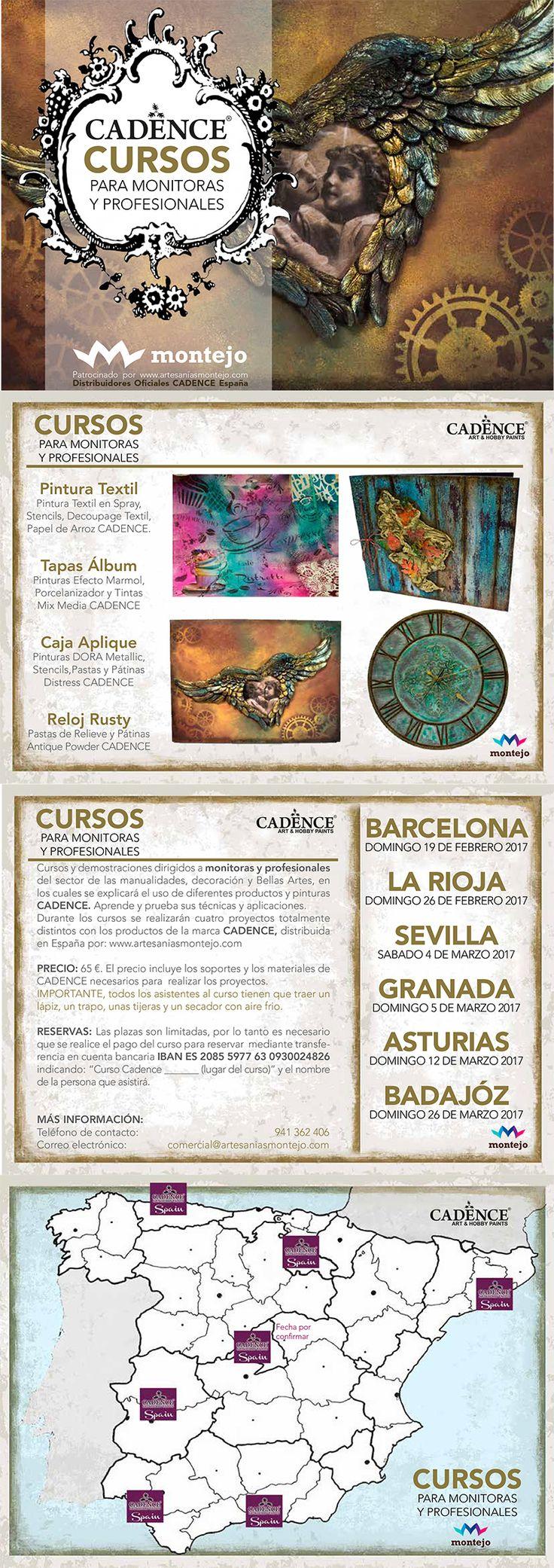Cursos #CADENCE para profesionales y monitoras, organizado por www.artesaniasmontejo.com
