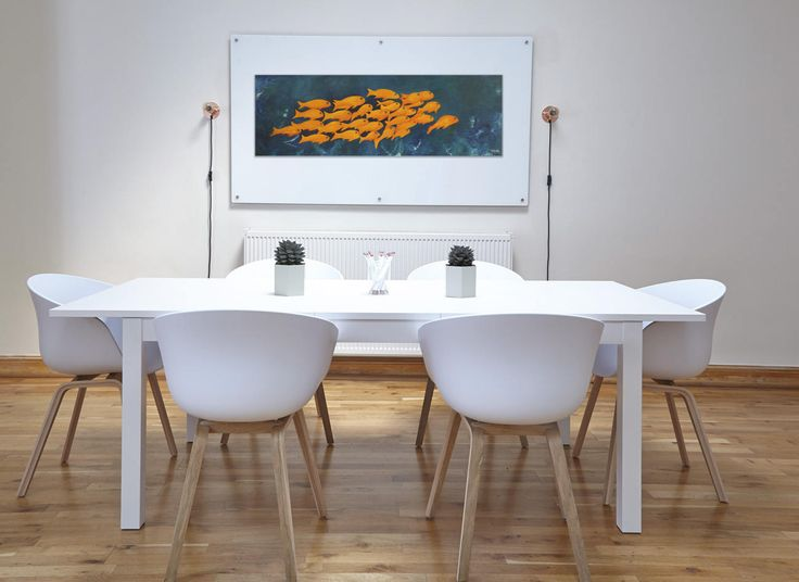 Fishes paintings Contemporary art Yellow fishes Original
