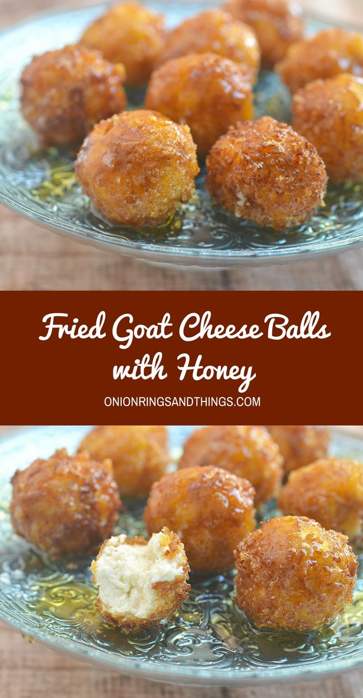 Fried goat cheese balls with honey are this season's appetizer of choice. A delightful combination of sweet, creamy and crunchy, they're sure to be a party favorite!