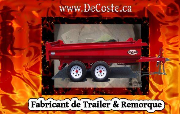 Monteregie Laval Montreal Trailer Dealers Fabricant Remorque