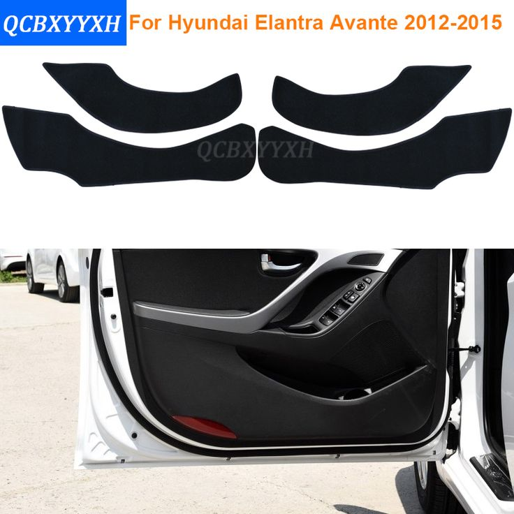 Car Styling Polyester Side Edge Protection Pad Protected Anti-kick Door Mats Cover For Hyundai Avante Elantra 2012-2015