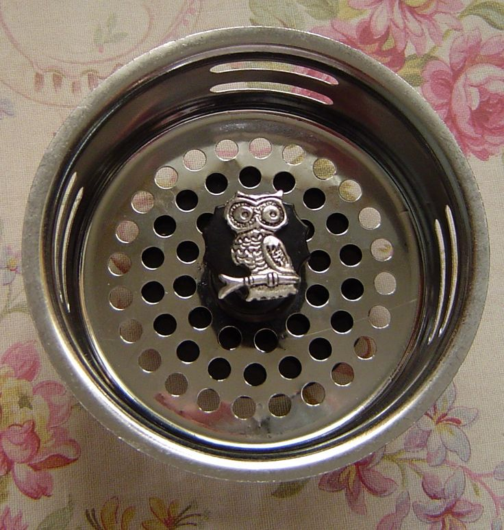 Owl Stainless Steel Kitchen Sink Strainer by FunSinkStrainers, $5.95 but I want rooster!!