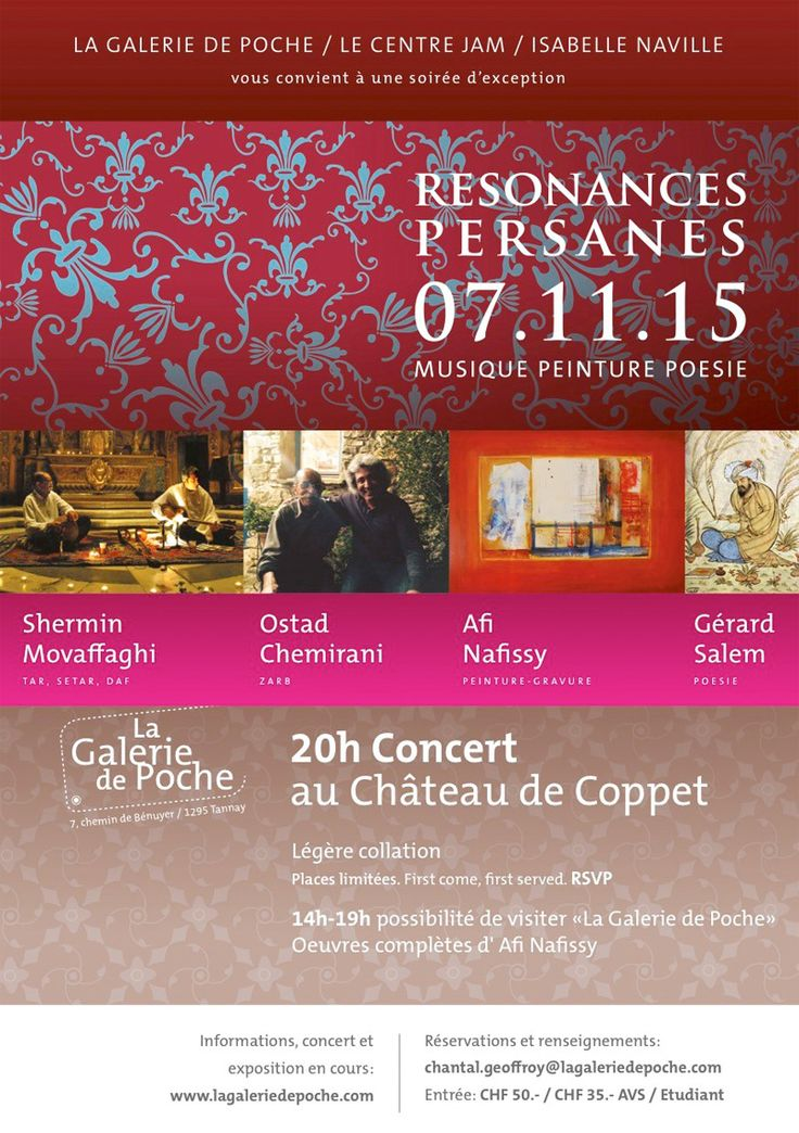 RESONANCES PERSANES, CHATEAU DE COPPET, 7 November, 2015.
