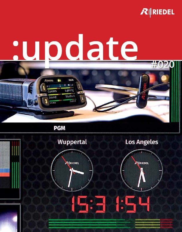 Our new :update brochure #020 is now available as a PDF file featuring our latest products incl. the Bolero Wireless Intercom, the virtual Multiviewer and the Desktop SmartPanel. #RIEDEL