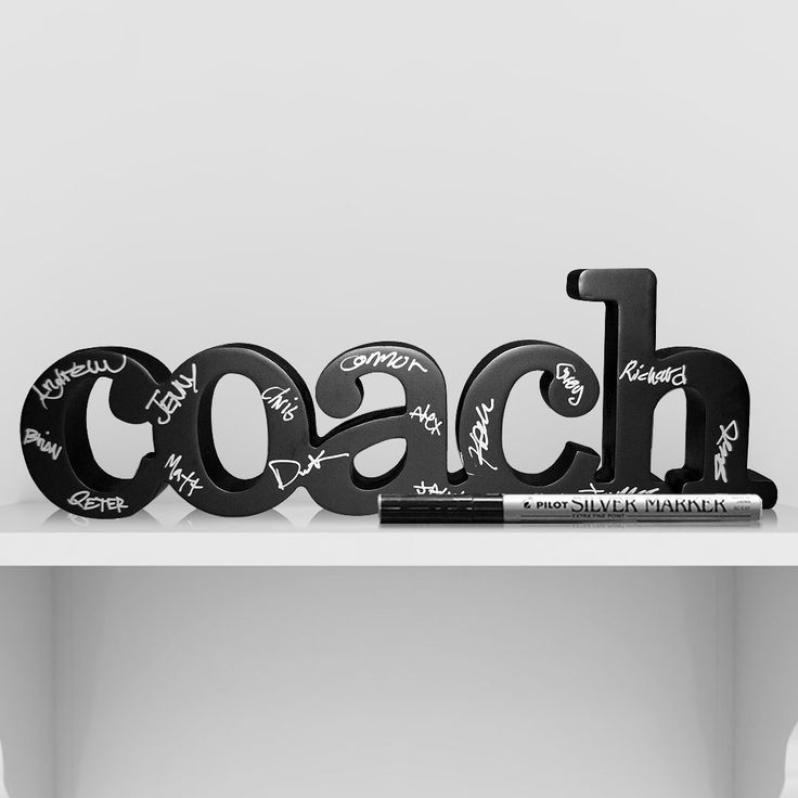 Coach Decorative SportWORDS Ready for Team to Autograph