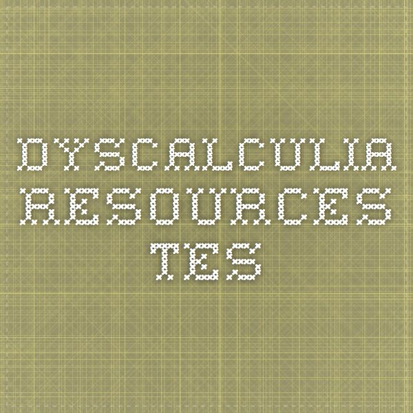 Dyscalculia - Resources - TES